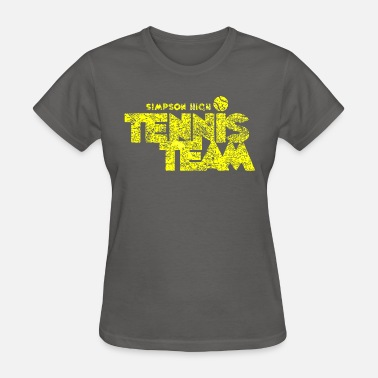 Funny Simpsons Simpson High Tennis Team - Women's T-Shirt