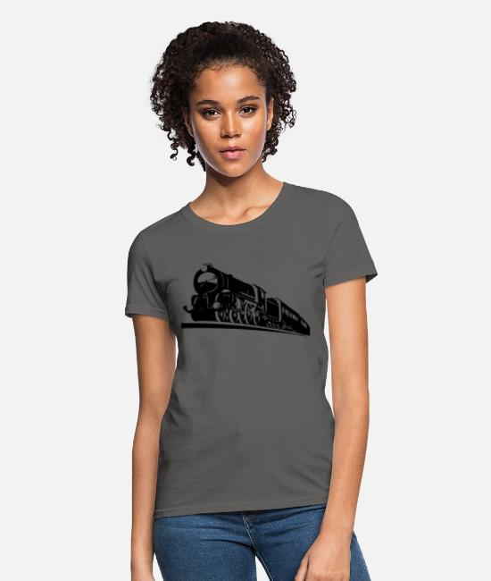 Bnsf T-Shirts - train engine - Women's T-Shirt charcoal