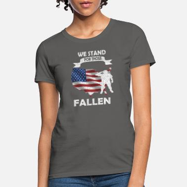 Japanese American We Stand For Those Who Have Fallen Apparel Grunge - Women's T-Shirt