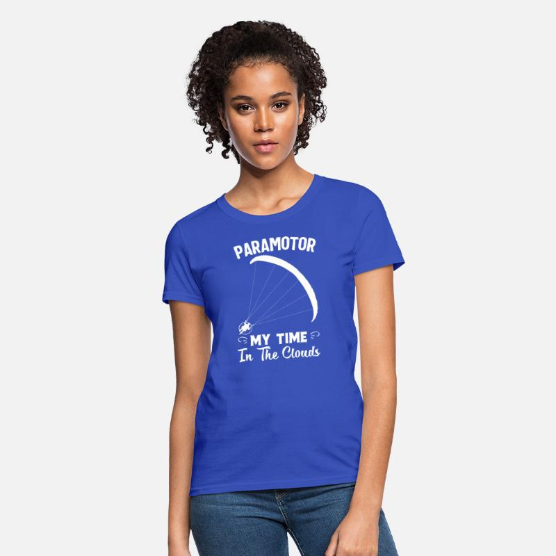 Powered Paraglider Paramotor My Time In the clouds Women's T-Shirt - royal  blue