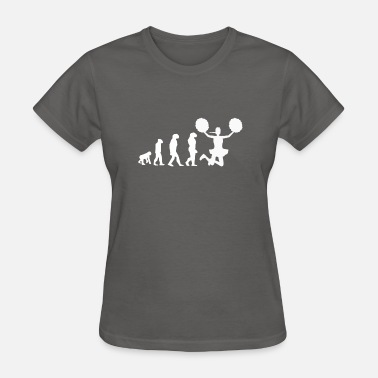 Cheerleader Acrobatics Cheerleader Cheerleading Evolution Geschenk - Women's T-Shirt