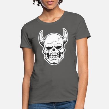 Daemon Daemon Head, demon, halloween, skull, scary - Women's T-Shirt
