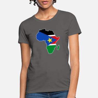 South Sudan South Sudan Flag In Africa Map - Women's T-Shirt