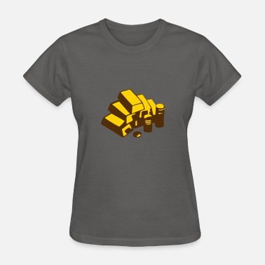 Gold Money Money, Gold - Women's T-Shirt