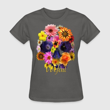 Flower Skull (Women's fit) - Women's T-Shirt