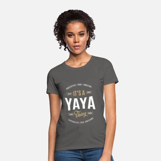 World's T-Shirts - Yaya T-shirts Gifts - Women's T-Shirt charcoal