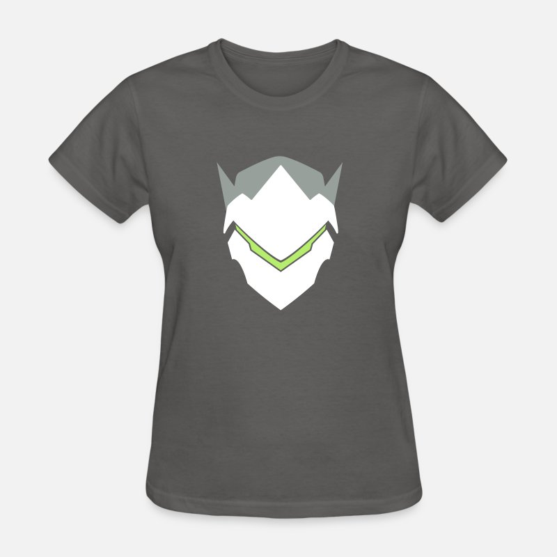 Icon T-Shirts - Genji Overwatch Icon - Women's T-Shirt charcoal
