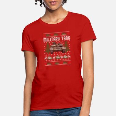 453fdc2e962d97 Christmas Military Tank Military Tank Ugly Christmas Sweater Funny Holiday  - Women  39 s. Women s T-Shirt