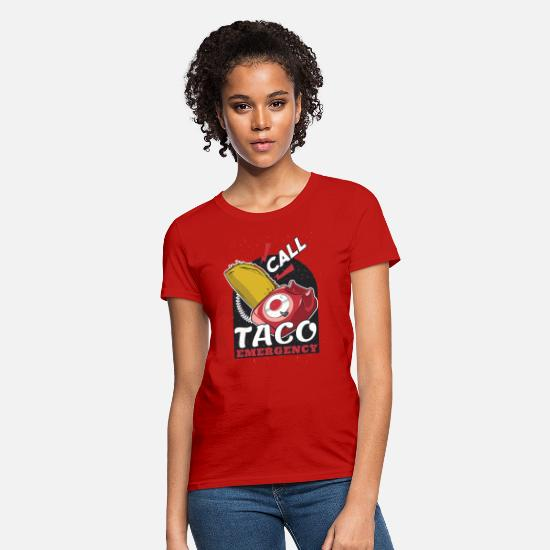 Margarita T-Shirts - Taco Emergency Tshirt - Women's T-Shirt red