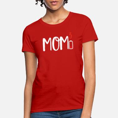 Battery Mom of Three 3 Cubed design Low Battery Gift for - Women's T-Shirt