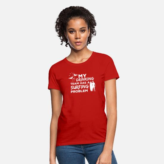 Surfer T-Shirts - Surf - Drinking Team - gift - Women's T-Shirt red