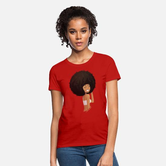 Afro T-Shirts - Afro Girl - Women's T-Shirt red