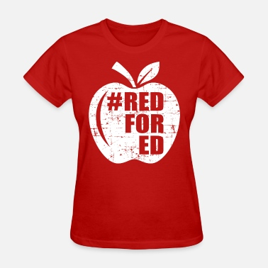 Apple Support RedForEd apple - Women's T-Shirt