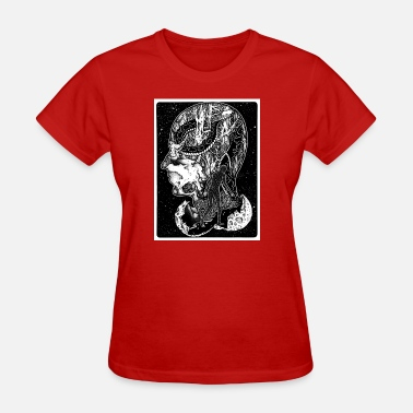 Killer Man Psychedelic Space Man With Killer Snake - Women's T-Shirt