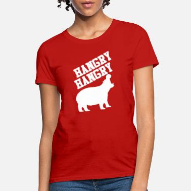 Hungry Hippo Hungry Hippo Logo Funny - Women's T-Shirt