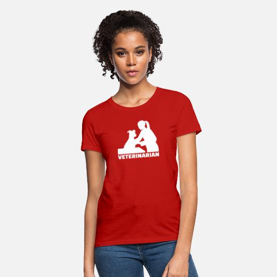 Veterinarian T-Shirts - Veterinarian - Women's T-Shirt red