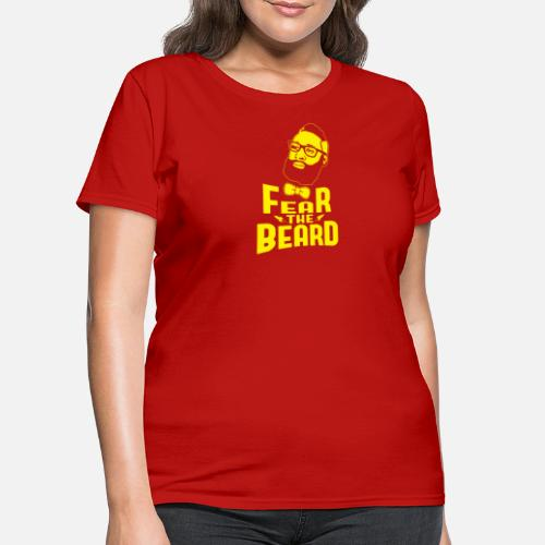 697f222fa5c2 ... JAMES HARDEN FEAR THE BEARD - Women s T-Shirt red. Do you want to edit  the design
