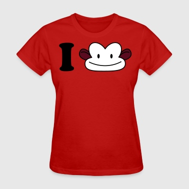 i heart monkey - Women's T-Shirt