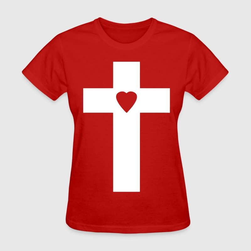 Cross Heart - Women's T-Shirt