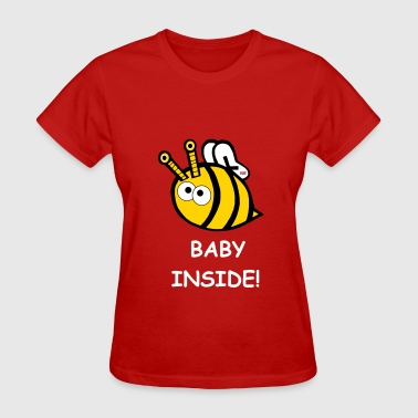 BABY INSIDE Little bee birds and bees son daughter - Women's T-Shirt