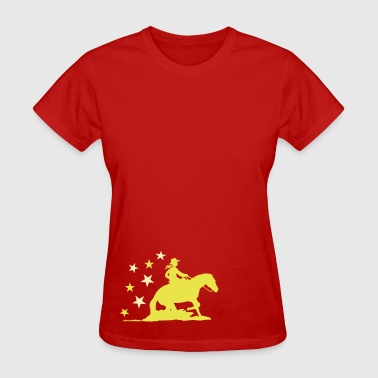 Sliding stop -Cowgirl - Women's T-Shirt
