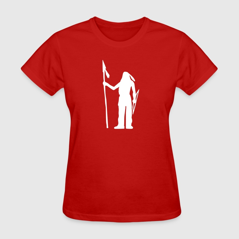 Native American Indian Silhouette - Women's T-Shirt
