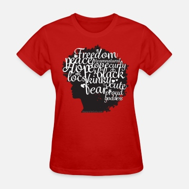 Afro With Text Afro Text II - Women's T-Shirt