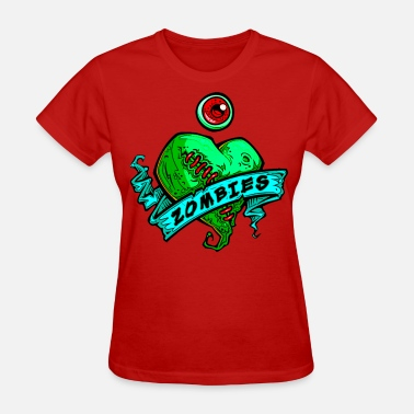 Valentine's Day h3_eye_heart_zombies_green - Women's T-Shirt