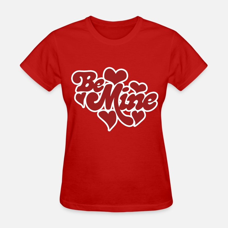 Day T-Shirts - Be Mine Hearts - Women's T-Shirt red