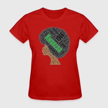 Kwanzaa Natural Hair Afro - Women's T-Shirt
