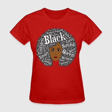 Round Afro Hair Word Art - Women's T-Shirt