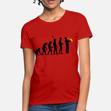 New Orleans Trumpet evolution_saxophon_a_2 - Women's T-Shirt