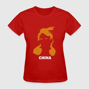 Funny Trump Hair and China - Women's T-Shirt