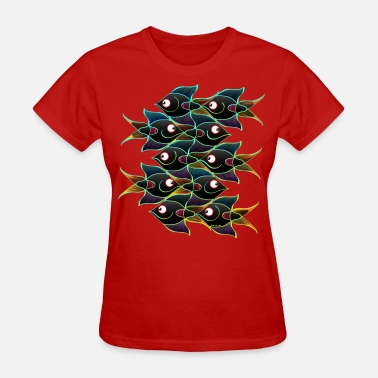 Sustainable Fishing A World Full of Smiling Fishes - Women's T-Shirt