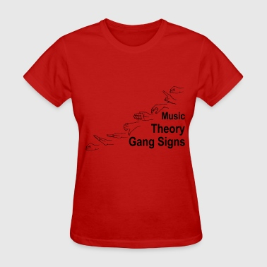 Music Theory Gang Signs (black) - Women's T-Shirt