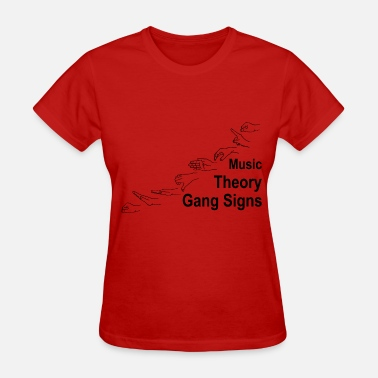 Solfege Music Theory Gang Signs (black) - Women's T-Shirt