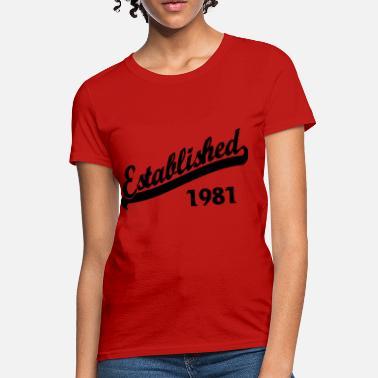 1f9bac7843 Established-since-1981 Established 1981 - Women  39 s ...