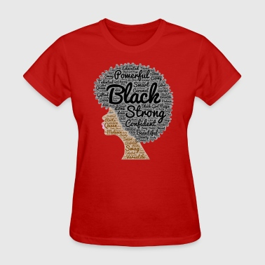 Natural Hair Afro Word Art - Women's T-Shirt