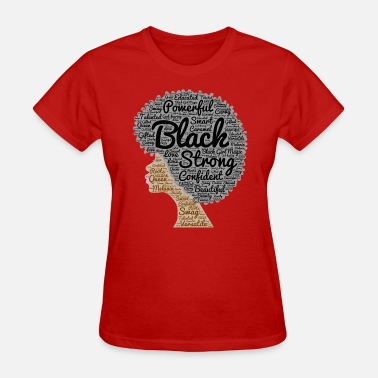 Afro Hair Natural Hair Afro Word Art - Women's T-Shirt