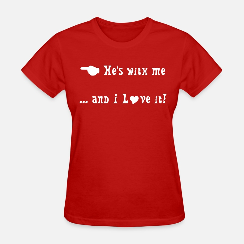 This T-Shirts - He's with me - Women's T-Shirt red