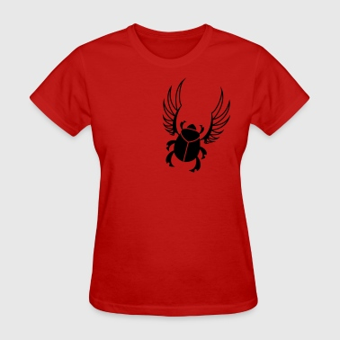 Winged Scarab Egyptian Scarab Beetle - Women's T-Shirt