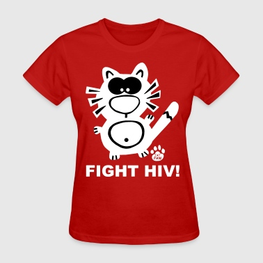 Stop Aids Fight HIV Aids Gay Catpaw Design Statement Stop - Women's T-Shirt