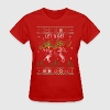 UGLY HOLIDAY SWEATER LET'S GET BLITZEN - Women's T-Shirt