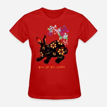Set It Off Year Of The Rabbit In Black  - Women's T-Shirt