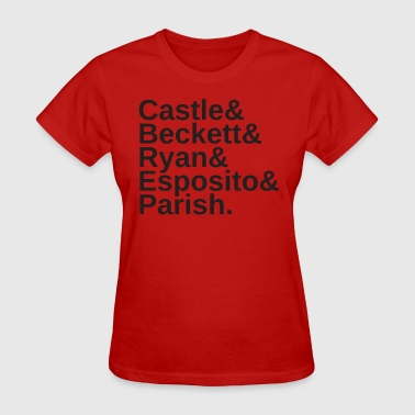 Javier CASTLE CAST NAMES Black Text - Women's T-Shirt