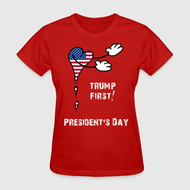 President's Day Trump First Flag USA - Women's T-Shirt