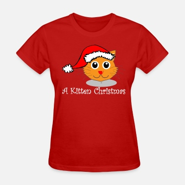 Osaio Clothing Co Kitten Christmas - Women's T-Shirt
