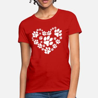 Puppy Paws Heart - Women's T-Shirt
