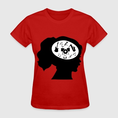 Only Music On My Mind - Women's T-Shirt