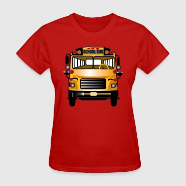 School Bus Public Transportation School Bus - Women's T-Shirt